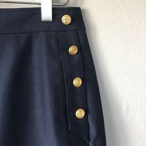 J. CREW Navy Nautical Mini Skirt Sz 2